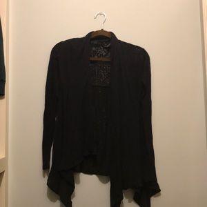 Black willi smith sheer cardigan